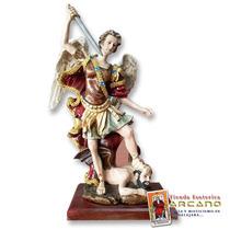 Figura Arcangel Miguel - En Alabastro, Pintada A Mano