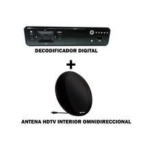 Kit Decodificador Digital Gebox + Antena Hd Omnidireccional
