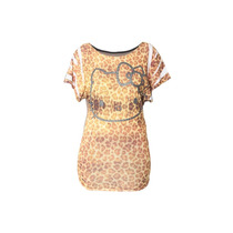 Playera Blusa Bluson Para Mujer Hello Kitty Animal Print Pm0