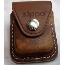 Funda Zippo Cafe Piel Genuina Nueva Original!!