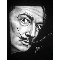 Playera Aerografia Rostro Salvador Dalí, Arte, Aerógrafo