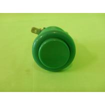 Botón Pulsador 2 Contactos Na Y No Color Verde