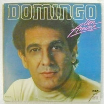 Placido Domingo / Con Amore 1 Disco Lp Vinil