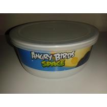 Recipiente Mediano Redondo Con Tapa Angry Birds Space! Fiest