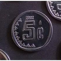 Moneda De 5 Ctvs. 2002 Sin Circular