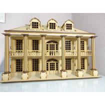 Mansion Sureña Muñecas, Hecha En Madera Mdf Rompecabezas 3d