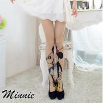 Entrega Inmediata Hermosa Medias Mickey Minnie Mouse Mimi