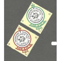 Estampillas De México Rombos Exposicion Filatelica 1974