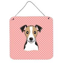Tablero De Damas Rosado Jack Russell Terrier Pared O Puerta