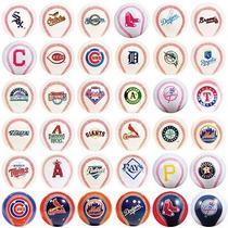 Coleccion Pelotitas Beisbol Logo 30 Equipos Y 6 Especiales