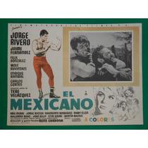 Jorge Rivero El Mexicano Wolf Ruvinski Orig Cartel De Cine