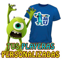 Playeras Estampadas Monster University A Todo Color
