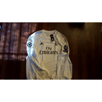 Jersey Adidas Real Madrid 15-16 Local Manga Larga Champions