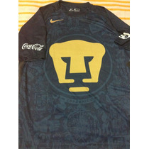Pumas Unam Talla Mediana Nike Jersey Azul Visita 2016 - 2017