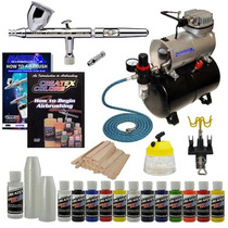 Aerógrafo Kit Completo Compresor Iwata Hp-cs Op4