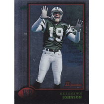 1998 Bowman Interstate Keyshawn Johnson Wr Jets