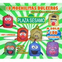 10 Mochilitas Dulcero Plaza Sesamo , Elmo , Comegalletas Rm4