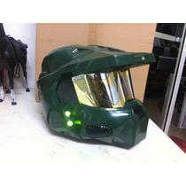 Halo Con Led Mascara Replica 1/1 No Hot Toys Fibra De Vidrio