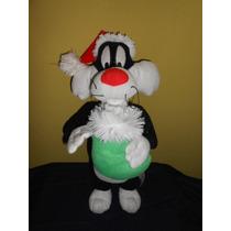Peluche Silvestre Looney Tunes Navidad 40 Cms Marca Nen