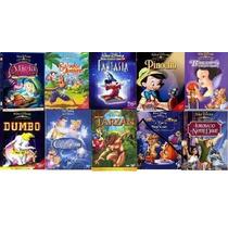 10 Clasicos Disney En Dvd Pinocho, Blanca Nieves, Cenicient