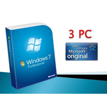 Windows 7 Professional Retail 3 Pc 32/64 Bits Fact