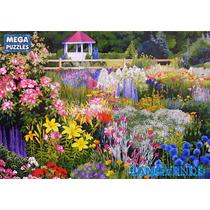 Rompecabezas Jardín, Flores Silvestres, Paisaje, Dibujo