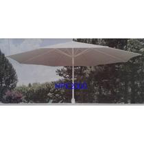 Sombrilla De Aluminio 3m. Color Blanco Plegable E Inclinable