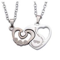 Set Collar Dije Novios Corazon Love Amor Pareja