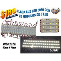 Placa Luz Led 5050 Con 20 Modulos De 3 Led Varios Colores Lu