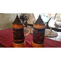 2 Tarros Cerveceros Corona De Coleccion