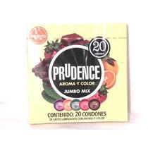 Caja De Condones Prudence Con 20 Pzas Todos Los Sabores