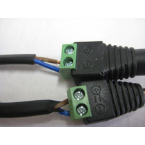 Conector Corriente Macho-hembra Para Camaras Cctv
