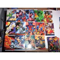Marvel Vs Dc 1995 Set Base 100 Tarjetas