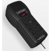 Vica Regulador V2500 2500va 300j Entrada 100-127v Negro
