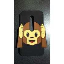 Funda Goma 3d Moto G3 Tercera Generacion Changuito Emoticon