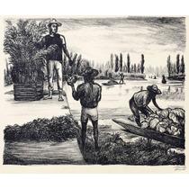Arturo Garcia Bustos Litografia Campesinos De Tlahuac Tgp 19