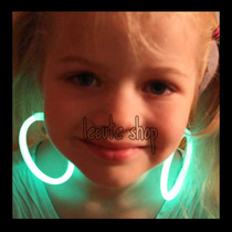 10 Aretes Luminosos Varios Colores Neon Fiesta Eventos Led