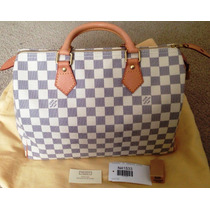 Bolsa Louis Vuitton Speedy 35 Damier Azur Lv Neverfill