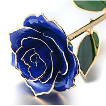 Rosa Natural Baño Oro 24k Regalo Cariño Amistad Envio Gratis