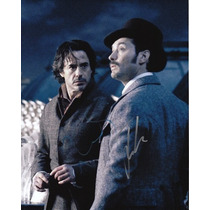 Foto 8x10 Autógrafo Sherlock Holmes X2 Downey Jr Law Coa