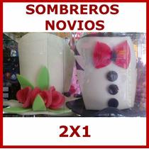 2x1 Sombrero De Espuma Novios,boda,peluca,fiesta.