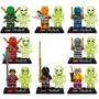 Set Sw11 De 16 Pzs Ninjago & Bones Glow Compatibles Con Lego