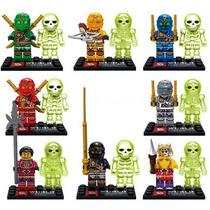 Set Sw11 De 16 Pzs Ninjago & Bones Glow Compatible Con Lego