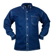 Camisa De Mezclilla Industrial 8.5 Oz