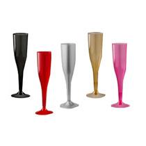 18 Copas Champagne Plástico Brindis Boda Fiesta Xv Navidad