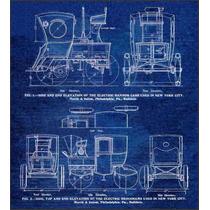 Lienzo Tela Taxis Eléctricos Nueva York 1898 50x60 Cm Poster