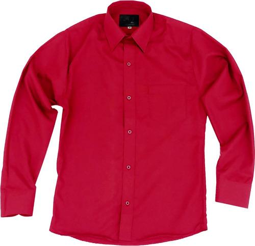 Camisa Vestir Infantil Juvenil Bailables Roja 2 A 16 17ecad313ea4d