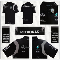 Playera Polo Mercedes Amg Petronas F1 Linea 2016 Hamilton