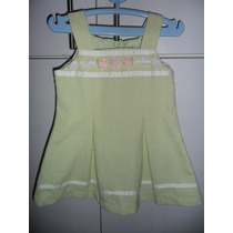 Vestidito Youngland Color Verde Talla 2