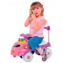 Carrito Sonoro Montable Rosa Con Musica Para Niños Y Bebes